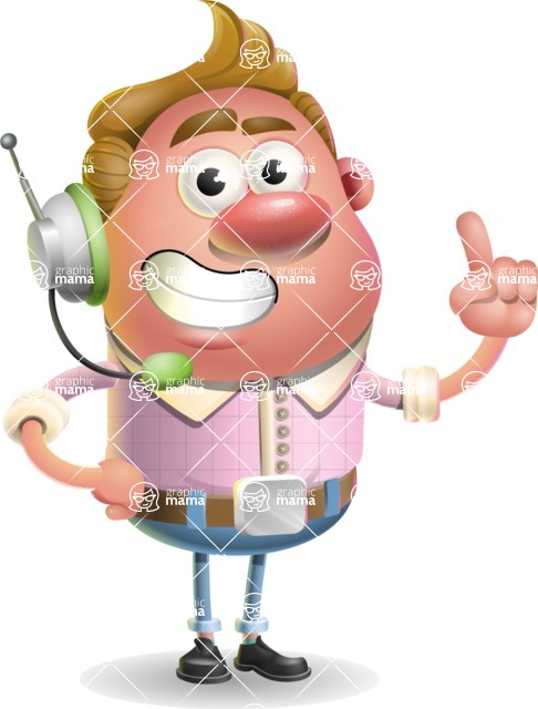 Vector Clay Business Man Cartoon Character Design AKA Theodore Quirk - Support 2