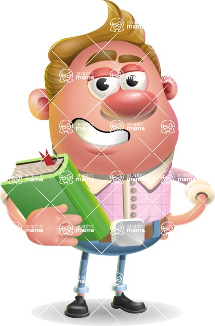Vector Clay Business Man Cartoon Character Design AKA Theodore Quirk - Book 3