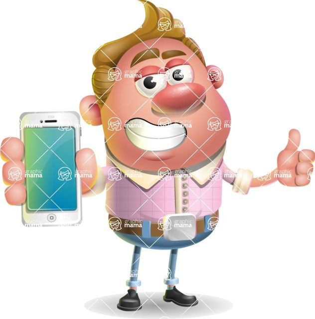 Vector Clay Business Man Cartoon Character Design AKA Theodore Quirk - iPhone