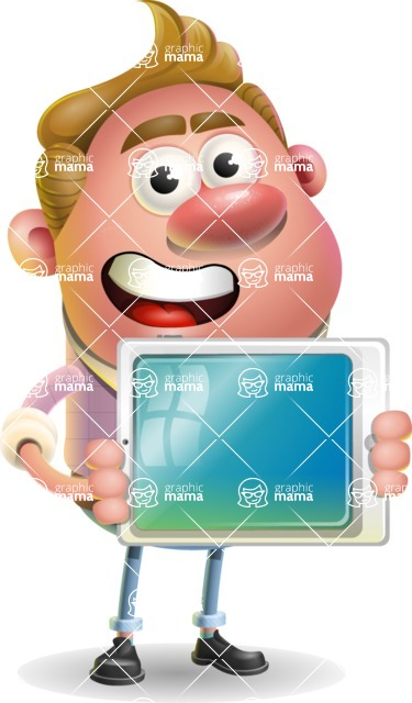 Vector Clay Business Man Cartoon Character Design AKA Theodore Quirk - iPad 2