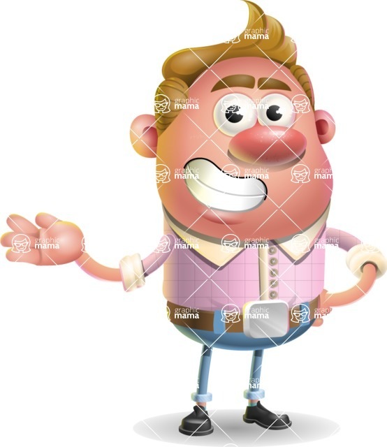 Vector Clay Business Man Cartoon Character Design AKA Theodore Quirk - Showcase 2