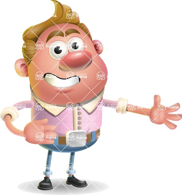 Vector Clay Business Man Cartoon Character Design AKA Theodore Quirk - Show