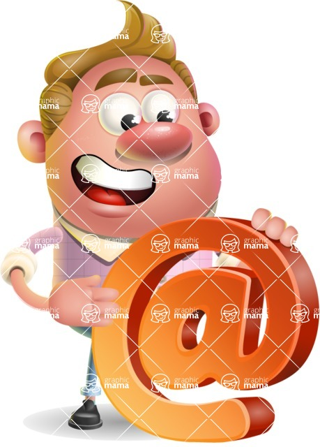 Vector Clay Business Man Cartoon Character Design AKA Theodore Quirk - Email