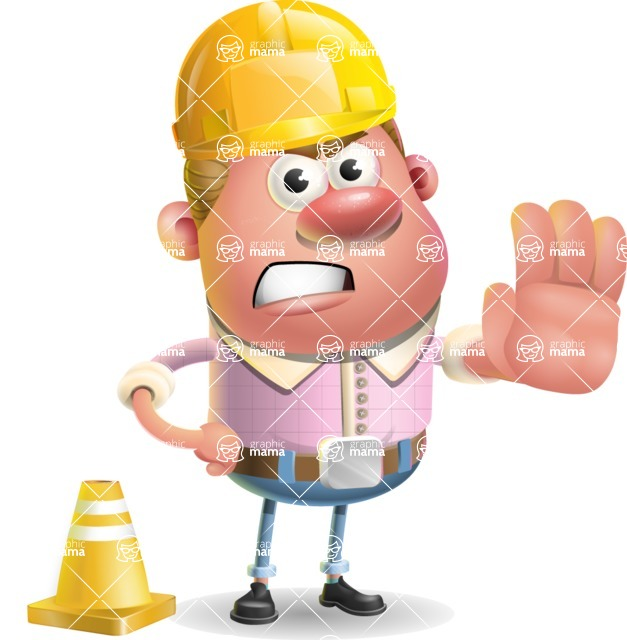Vector Clay Business Man Cartoon Character Design AKA Theodore Quirk - Under Construction 1