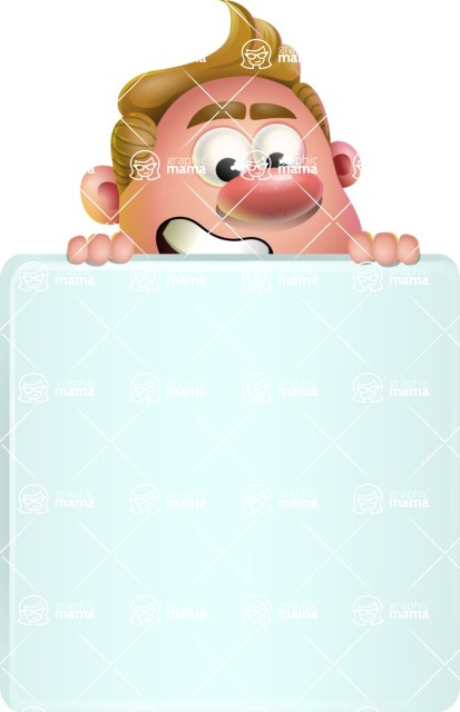 Vector Clay Business Man Cartoon Character Design AKA Theodore Quirk - Sign 6