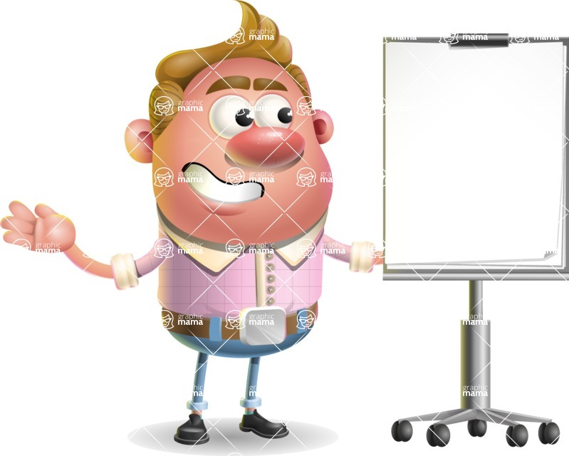 Vector Clay Business Man Cartoon Character Design AKA Theodore Quirk - Presentation 1