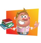 Vector Clay Business Man Cartoon Character Design AKA Theodore Quirk - Shape 3
