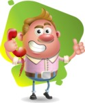 Vector Clay Business Man Cartoon Character Design AKA Theodore Quirk - Shape 7