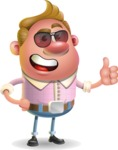 Vector Clay Business Man Cartoon Character Design AKA Theodore Quirk - Sunglasses