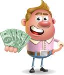 Vector Clay Business Man Cartoon Character Design AKA Theodore Quirk - Show me  the Money