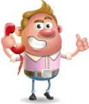 Vector Clay Business Man Cartoon Character Design AKA Theodore Quirk - Support