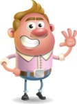 Vector Clay Business Man Cartoon Character Design AKA Theodore Quirk - Wave