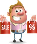 Vector Clay Business Man Cartoon Character Design AKA Theodore Quirk - Sale 2