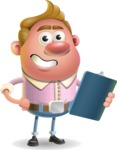 Vector Clay Business Man Cartoon Character Design AKA Theodore Quirk - Notepad 2