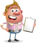 Vector Clay Business Man Cartoon Character Design AKA Theodore Quirk - Notepad 4