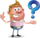 Vector Clay Business Man Cartoon Character Design AKA Theodore Quirk - Question