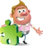 Vector Clay Business Man Cartoon Character Design AKA Theodore Quirk - Puzzle