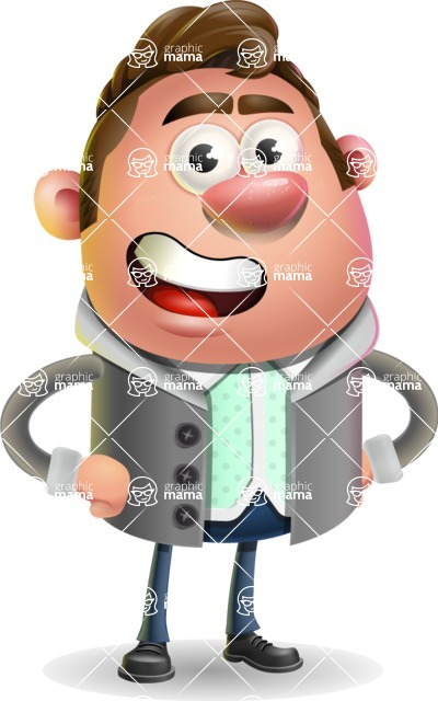 Fashionable Man Cartoon 3D Vector Character AKA Lincoln - Normal