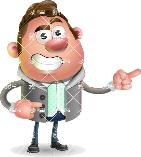 Fashionable Man Cartoon 3D Vector Character AKA Lincoln - Point 2