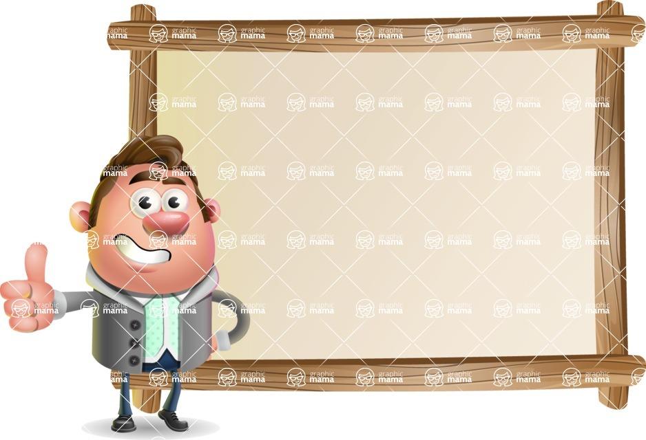 Fashionable Man Cartoon 3D Vector Character AKA Lincoln - Presentation 5