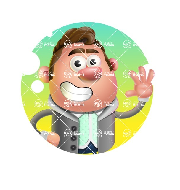 Fashionable Man Cartoon 3D Vector Character AKA Lincoln - Shape 1