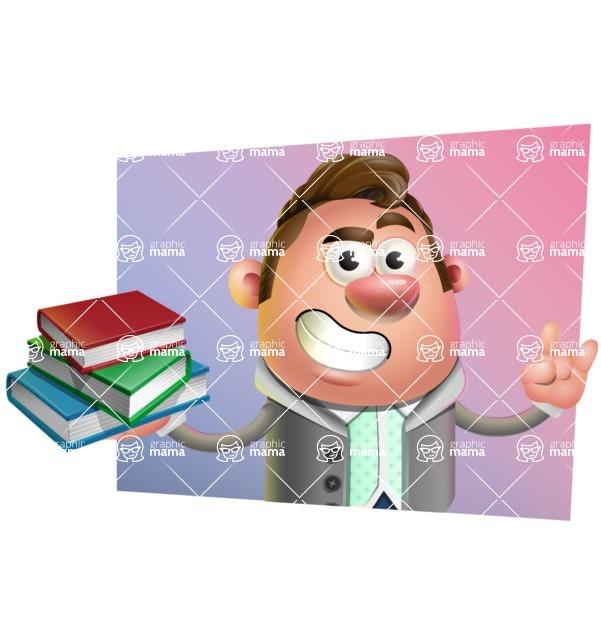 Fashionable Man Cartoon 3D Vector Character AKA Lincoln - Shape 3