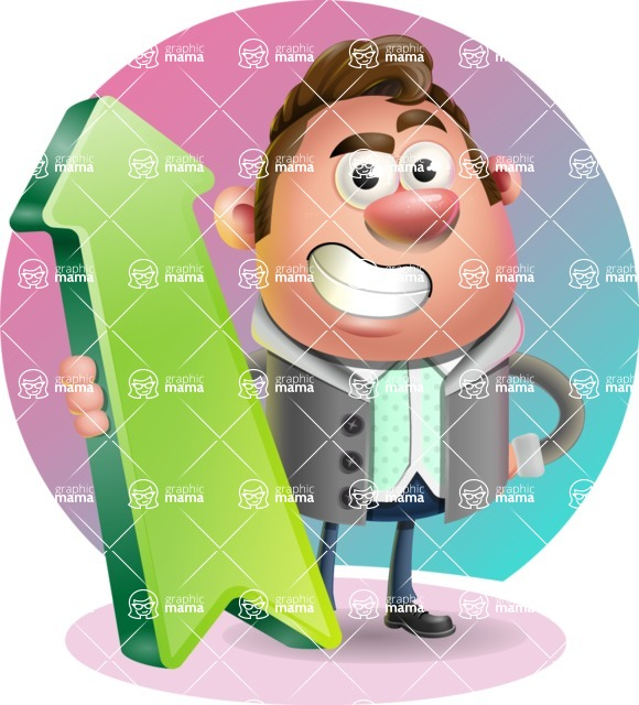Fashionable Man Cartoon 3D Vector Character AKA Lincoln - Shape 8