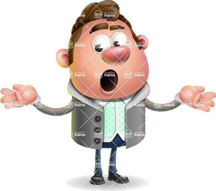 Fashionable Man Cartoon 3D Vector Character AKA Lincoln - Lost