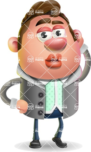 Fashionable Man Cartoon 3D Vector Character AKA Lincoln - Duckface