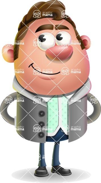 Fashionable Man Cartoon 3D Vector Character AKA Lincoln - Patient