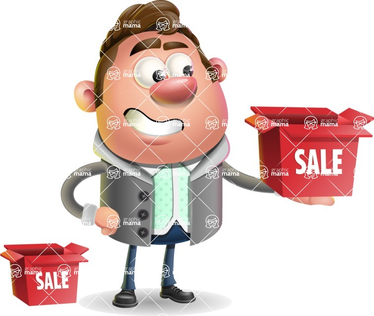 Fashionable Man Cartoon 3D Vector Character AKA Lincoln - Sale