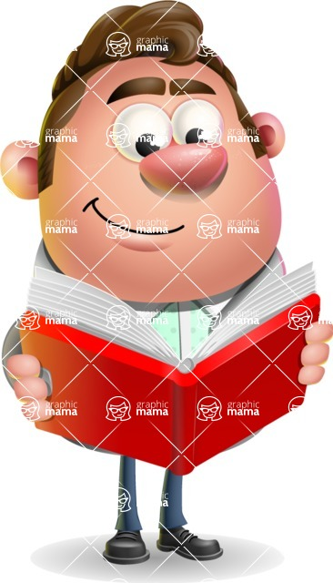 Fashionable Man Cartoon 3D Vector Character AKA Lincoln - Book 1