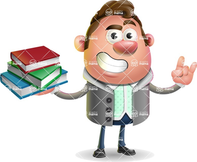 Fashionable Man Cartoon 3D Vector Character AKA Lincoln - Book 2