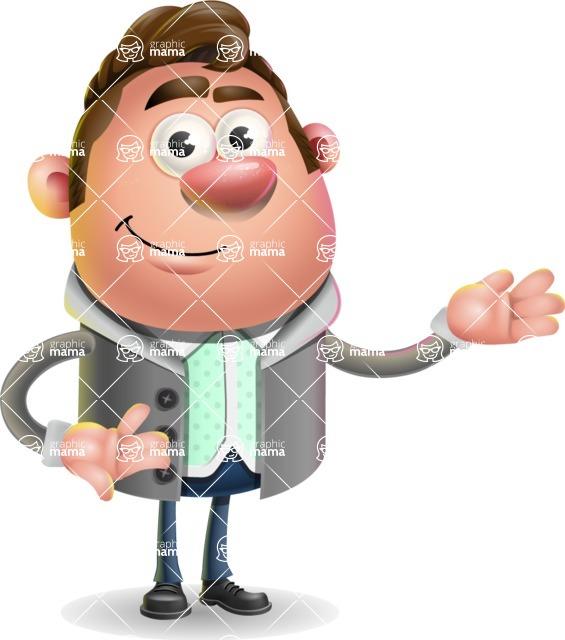 Fashionable Man Cartoon 3D Vector Character AKA Lincoln - Showcase