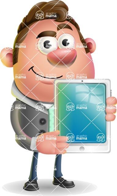 Fashionable Man Cartoon 3D Vector Character AKA Lincoln - iPad 1