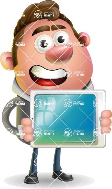 Fashionable Man Cartoon 3D Vector Character AKA Lincoln - iPad 2