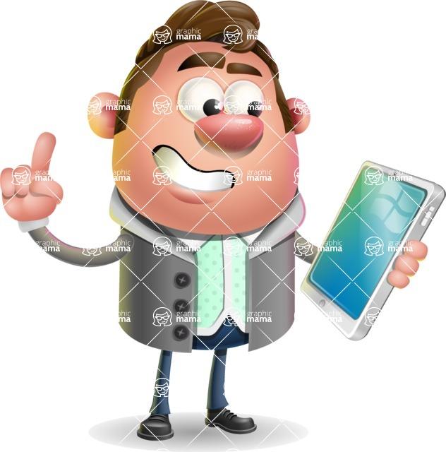 Fashionable Man Cartoon 3D Vector Character AKA Lincoln - iPad 3
