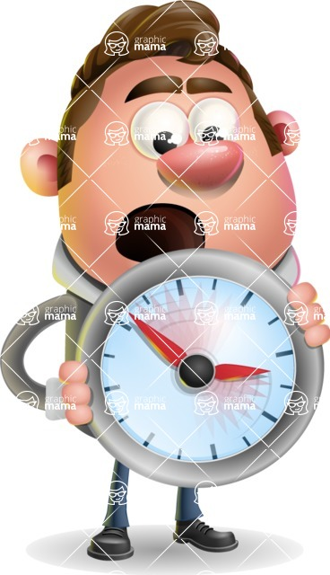 Fashionable Man Cartoon 3D Vector Character AKA Lincoln - Time is Yours