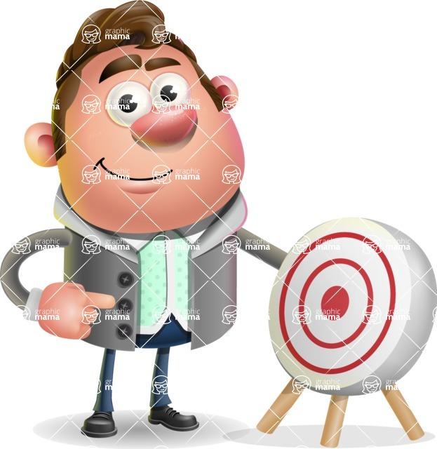 Fashionable Man Cartoon 3D Vector Character AKA Lincoln - Target