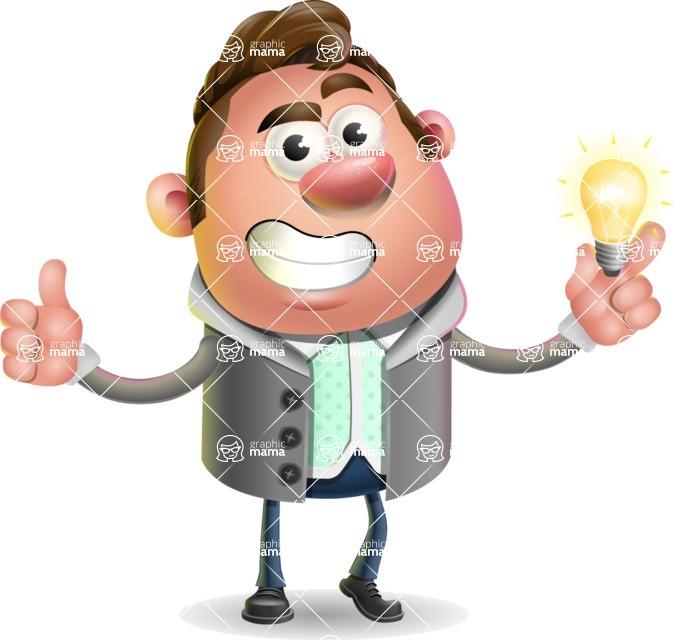 Fashionable Man Cartoon 3D Vector Character AKA Lincoln - Idea 1
