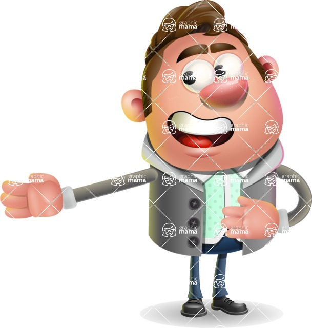 Fashionable Man Cartoon 3D Vector Character AKA Lincoln - Show 2