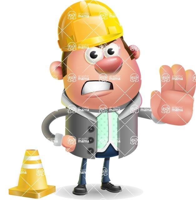 Fashionable Man Cartoon 3D Vector Character AKA Lincoln - Under Construction 1