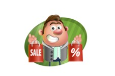 Fashionable Man Cartoon 3D Vector Character AKA Lincoln - Shape 4