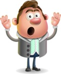 Fashionable Man Cartoon 3D Vector Character AKA Lincoln - Shocked