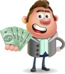 Fashionable Man Cartoon 3D Vector Character AKA Lincoln - Show me  the Money