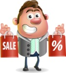 Fashionable Man Cartoon 3D Vector Character AKA Lincoln - Sale 2