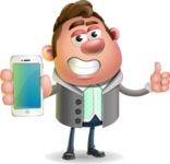 Fashionable Man Cartoon 3D Vector Character AKA Lincoln - iPhone