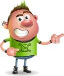 Punk Boy Cartoon Vector 3D Character AKA Carter Punk - Point 2