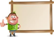 Punk Boy Cartoon Vector 3D Character AKA Carter Punk - Presentation 5