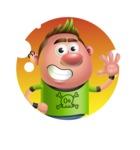 Punk Boy Cartoon Vector 3D Character AKA Carter Punk - Shape 1